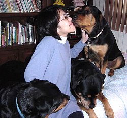 Naomi and doggies